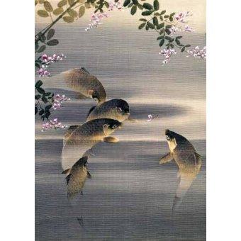 cuadros de fauna - Cuadro -Peces- - _Anónimo Japones