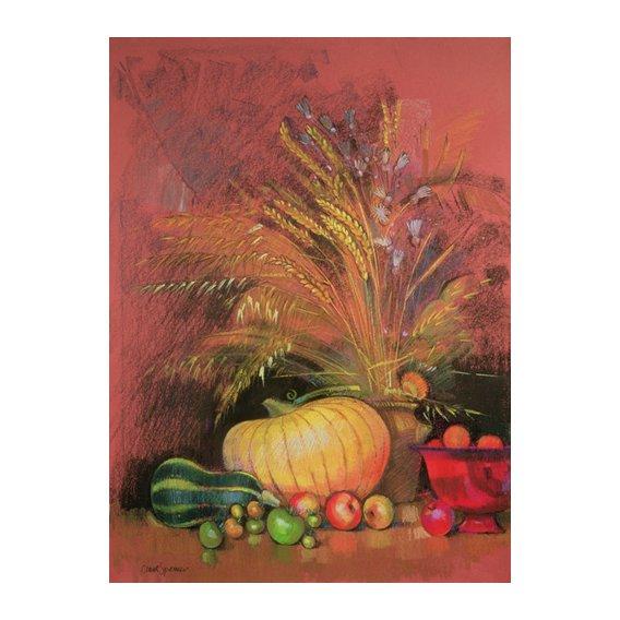 Quadro - Autumn Harvest (pastel on paper) -
