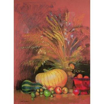 Quadros para sala de jantar - Quadro - Autumn Harvest (pastel on paper) - - Spencer, Claire