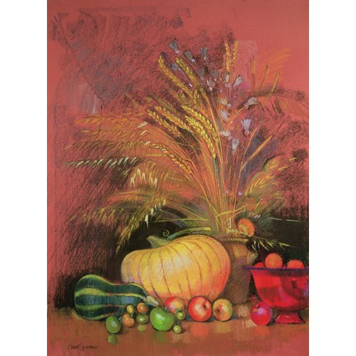 Quadro - Autumn Harvest (pastel on paper) -