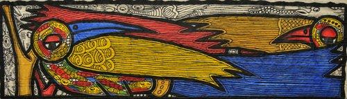 quadros-para-sala - Quadro -Courting Birds- - Oladoja, Muktair