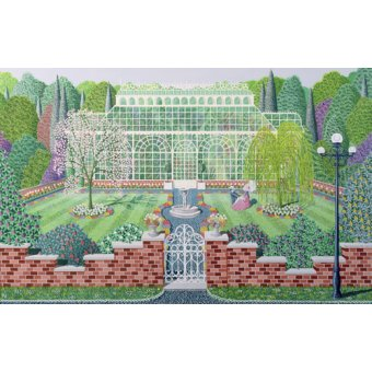 quadros de paisagens - Quadro - The Greenhouse in the Park - - Szumowsky, Peter