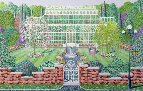 quadros-de-paisagens - Quadro - The Greenhouse in the Park - - Szumowsky, Peter