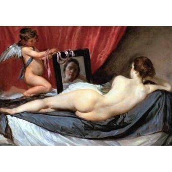 cuadros de desnudos - Cuadro -Venus delante del espejo- - Velazquez, Diego de Silva