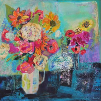- Quadro - Bring me Sunshine 2013 acrylic.paper collage- - Paul, Sylvia