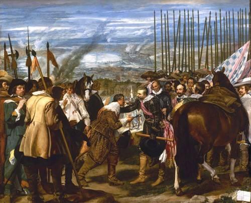 pinturas-de-retratos - Quadro -Rendición de Breda (Las lanzas)- - Velazquez, Diego de Silva
