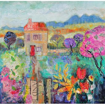 - Quadro - Place in the Country, 2014, acrylic.paper collage- - Paul, Sylvia