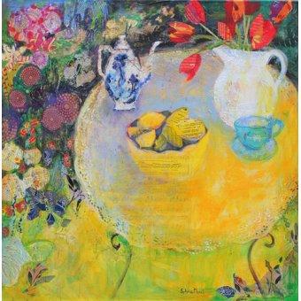 - Quadro - Lemon Tea in the Garden- - Paul, Sylvia