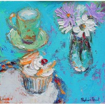Quadros para sala de jantar - Quadro - Butterfly Cake- - Paul, Sylvia