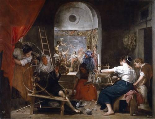 cuadros de retrato - Cuadro -Las hilanderas- - Velazquez, Diego de Silva