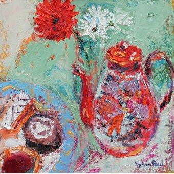 - Quadro - Teatime- - Paul, Sylvia