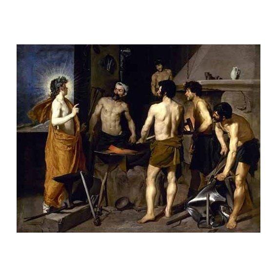 pinturas do retrato - Quadro -La fragua de Vulcano-