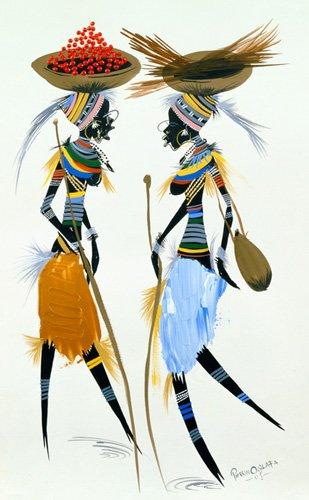 quadros-etnicos-e-orientais - Quadro -Black Models, 2008- - Perrin, Oglafa Ebitari