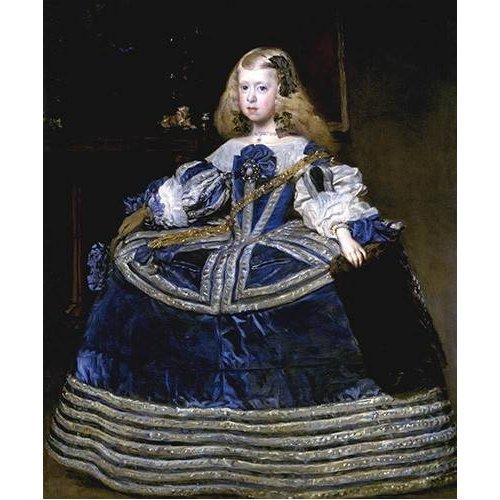 Quadro -Retrato de la Infanta Margarita, a la edad de ocho anios-