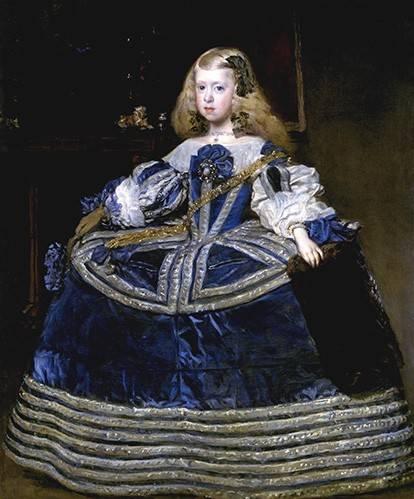 cuadros de retrato - Cuadro -Retrato de la Infanta Margarita, a la edad de ocho anios- - Velazquez, Diego de Silva