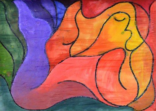 quadros-abstratos - Quadro -Recumbent- - Pontes, Guilherme