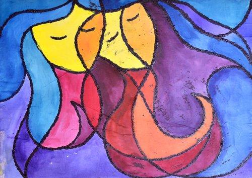 quadros-abstratos - Quadro -Two of You- - Pontes, Guilherme