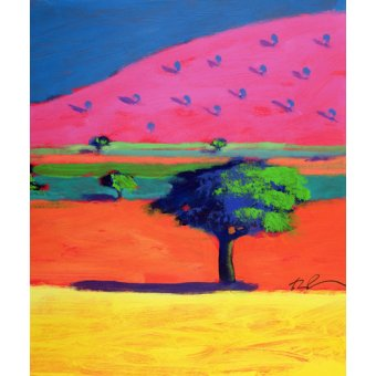 - Quadro - Pink Hill (acrylic on card) - - Powis, Paul