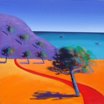 - Quadro - Red Path (oil on board)- - Powis, Paul