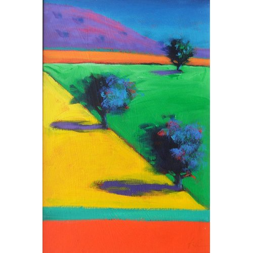 Quadro - Yellow Field (acrylic on board)-