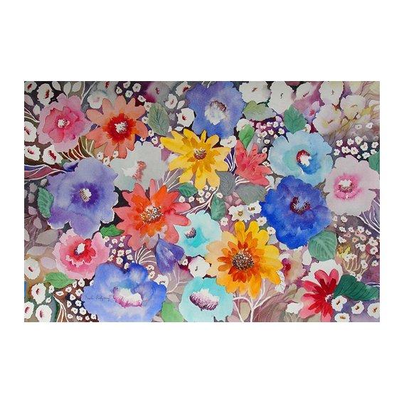 Quadro - floral quilt-