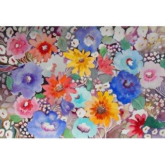 quadros de flores - Quadro - floral quilt- - Pushparaj, Neela