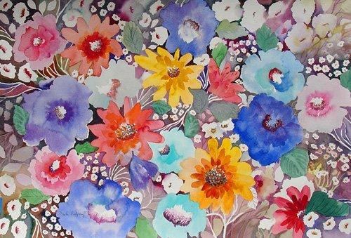 quadros-para-hall - Quadro - floral quilt- - Pushparaj, Neela