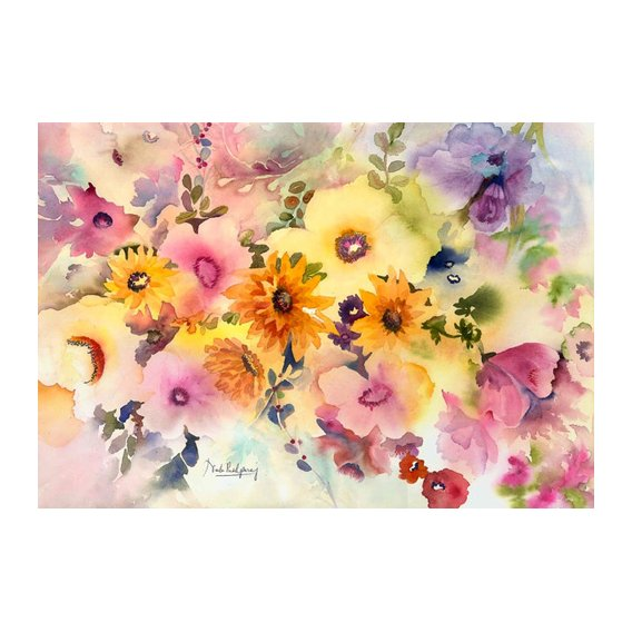 Quadro - golden blossoms-
