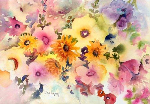 quadros-para-hall - Quadro - golden blossoms- - Pushparaj, Neela