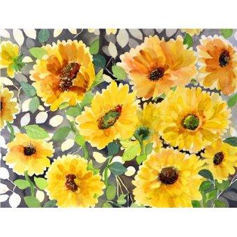 quadros de flores - Quadro - girasol- - Pushparaj, Neela