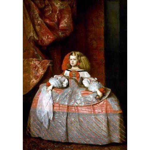 pinturas do retrato - Quadro -Retrato de la Infanta doña Margarita de Austria-