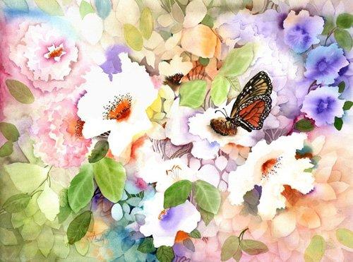 quadros-para-hall - Quadro - monarch at my garden- - Pushparaj, Neela