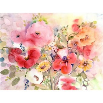 quadros de flores - Quadro - my cup runneth over- - Pushparaj, Neela