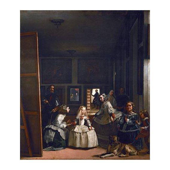 pinturas do retrato - Quadro -Las meninas, familia de Felipe IV-