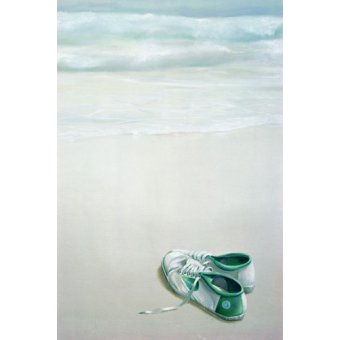 quadros de paisagens marinhas - Quadro -Gym Shoes on Beach- - Seligman, Lincoln