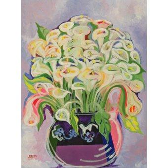 quadros de flores - Quadro -Lilies, 1989- - Shawa, Laila