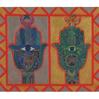 quadros étnicos e orientais - Quadro -Protective Hands, 1992- - Shawa, Laila