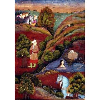 - Quadro -Mujer bañandose en el rio- - _Anónimo Persa
