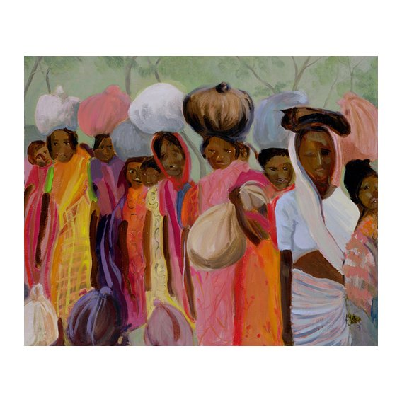 Quadro - Weighing the Tea (oil on canvas) -