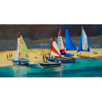 Quadros para sala - Quadro - Salcombe Smalls Cove Dinghies - - Wright, Jennifer