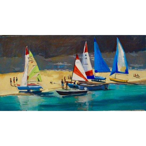 Quadro -  Salcombe Smalls Cove Dinghies -