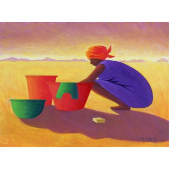 - Quadro - Washer Woman, 1999 (oil on canvas) - - Willis, Tilly
