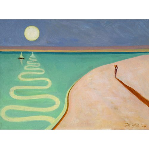 Quadro - Serpentine Sunset, 2004 (oil on canvas) -