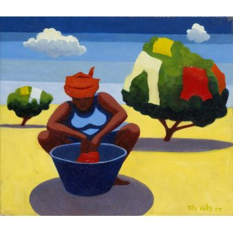 - Quadro - A Drying Day, 2007 (oil on canvas) - - Willis, Tilly