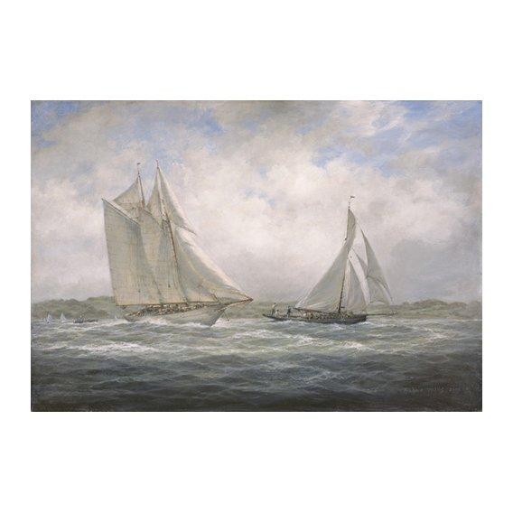 Quadro - Two Classics. 'Aello Beta' and 'Marigold' off the Isle of Wight, 2005 -