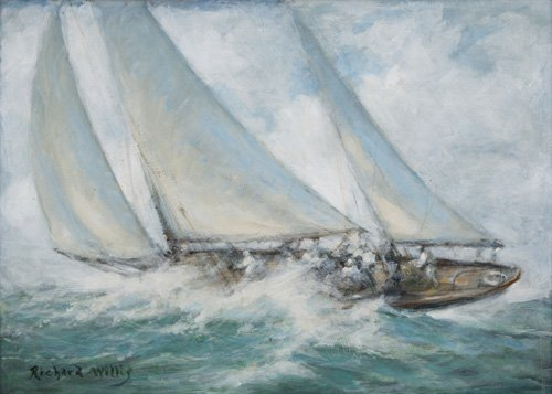 quadros-de-paisagens-marinhas - Quadro - Classic Yacht - Twixt Wind and Water - - Willis, RIchard