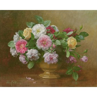 quadros de flores - Quadro - AB.119.2 A bowl of roses - - Williams, Albert