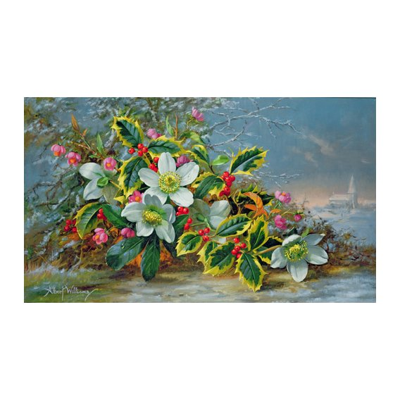 Quadro - Winter roses in a landscape -