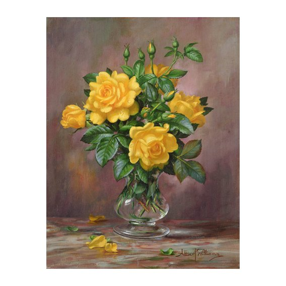 Quadro - AB.303 Radiant Yellow Roses -