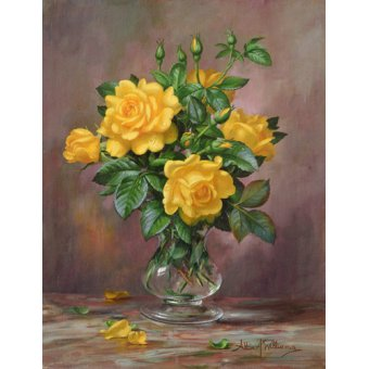 quadros de flores - Quadro - AB.303 Radiant Yellow Roses - - Williams, Albert